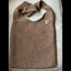 The Sak Crochet Fly 120 Tan Hobo. Sze: 11in X 14in